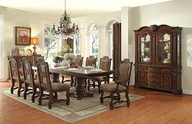 Double Pedestal Dining Room Tables Homelegance Thurmont Double Pedestal Dining Set Cherry 5052 118