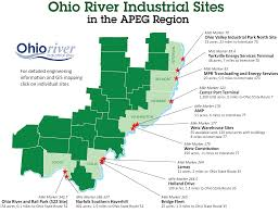 Ohio River On Map by Apeg Available River Sites