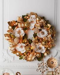 winter white gold pre lit 28 wreath