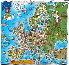 Map Pf Europe by Kid U0027s Map Of Europe Interesting Pinterest Kids S