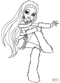 monster high abbey bominable coloring page free printable