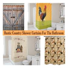 Country Rustic Curtains 9 Rustic Country Shower Curtains For The Bathroom Uniq Home Decor