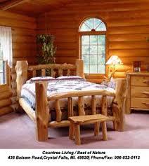 Log Queen Bed Frame Log Bed Log Cedar Log Bed Log Beds Rustic Log Bed Log Home