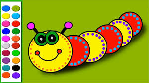 learn colors for kids with caterpillar coloring pages how to
