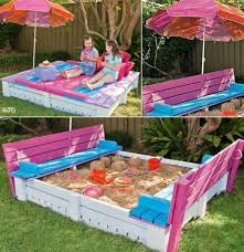 Creative Benches Creative Ideas Diy Covered Sandbox With Benches