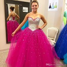fuchsia quinceanera dresses customized fuchsia quinceanera dresses sparking crystals sweetheart