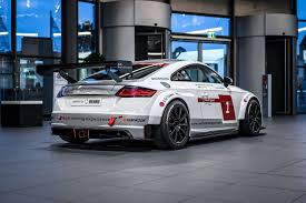 audi race car audi tt cup race car looks while on display