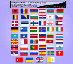 Flags Of European Countries Europe Country Flags Digital Flag Png Printable By