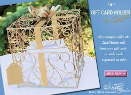 wedding gift holder wednesday wedding accessory gold gift card holder
