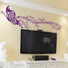 online buy wholesale music note wall decals from china music note diy romantic musical notes purple home decor wallpaper art mural wall decals home decoration pegatinas butterfly
