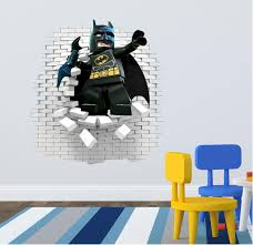 3d lego batman wall decal great for kids room by artogtext on