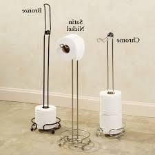 home design chrome toilet paper roll holder organiser with