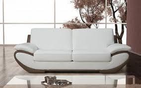 canapé en cuir italien canapé design cuir 2 places pas cher linati