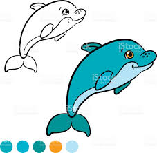 baby dolphin coloring pages cute baby animals printables cute