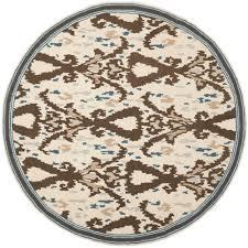 nuloom rigo jute white 4 ft x 4 ft round area rug tajt03b 404r
