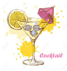 martini illustration hand draw cocktail royalty free cliparts vectors and stock