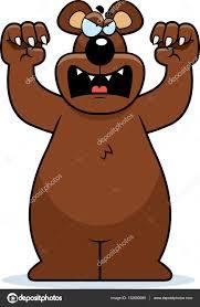 imagenes animadas oso oso de dibujos animados atacando vector de stock cthoman 132690280