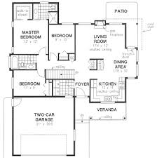 floor plan in french craftsman style house plan 3 beds 2 baths 1236 sq ft plan 18