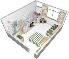 Studio Apartment Setup Studio 2nd Floor Townhome 3d Floor Plan By Pcmg Apartments Via