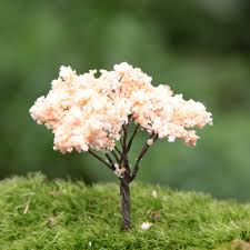 hotsale colorful miniature artificial trees flower garden