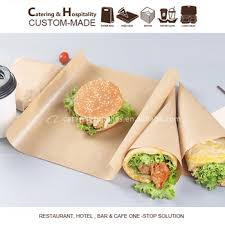 burger wrapping paper greaseproof food wrapping paper of brown kraft paper for burger
