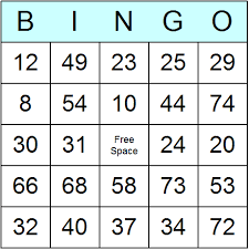 numbers 1 to 75 bingo cards printable bingo activity and