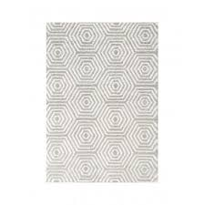 Beige And Gray Area Rugs Boulevard Light Gray Beige Area Rug With Hexagonal Pattern Kalora
