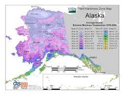 Alaska Time Zone Map by Plant Hardiness Zones The How Do Gardener