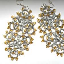 Long Chandelier Earrings Dangle Earrings Tatted Earrings Long Lace Earrings From Carmentatting On Etsy