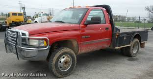 Dodge 3500 Pickup Truck - 2001 dodge ram 3500 flatbed pickup truck item j8654 sold