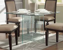 Square Glass Dining Table Homelegance Alouette Square Glass Dining Table 17811
