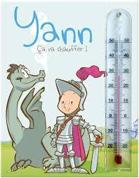 thermometre chambre enfant cadre thermomã tre du thã me chevalier pour vã rifier la tempã