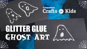 glitter glue ghost art crafts for kids pbs parents youtube