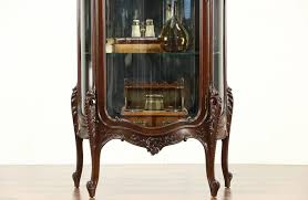curio cabinet antique french style mahogany curved curio cabinet