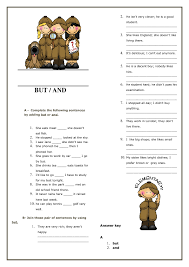 and but elementary worksheet