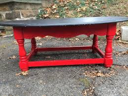 red and black coffee table red and black painted coffee table attainable vintage