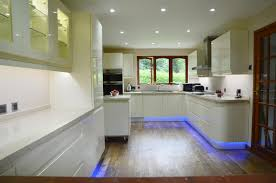 led kitchen lighting ideas energy efficient led downlights combined with colour changing led