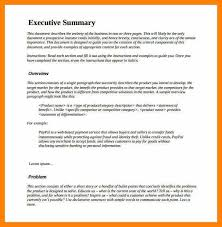 project executive summary template sample executive summary