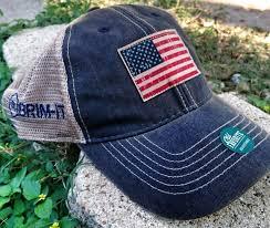 American Flag Flat Bill Hat We The People Trucker Style Hat Brim It