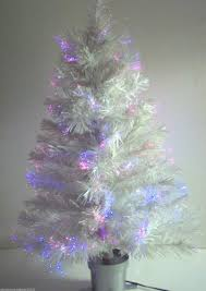 32 white color changing fiber optic artificial tree