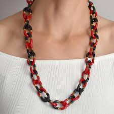 red chain link necklace images Archimede seguso vintage hand blown glass link necklace a jpg