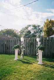 excellent small backyard wedding ideas on a budget images