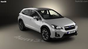 subaru crosstrek white 2016 360 view of subaru xv 2016 3d model hum3d store
