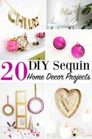 20 diy sequin home decor projects house decoration