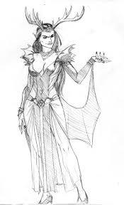 elf queen sketch 1 by reillybrown on deviantart