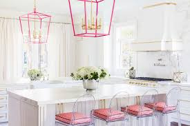 Pink Chandelier Burleson The White And Pink Kitchen Of Our Dreams U2014 Libby Living Colorfully
