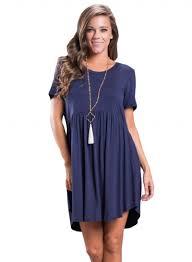 women u0027s short sleeve pullover babydoll style casual dress