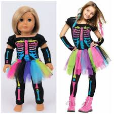 karate kid skeleton costume electric neon skeleton costume for and american girl dolls