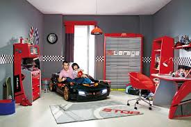 Car Bedroom Ideas Boys Bedroom Ideas With Black Car Bed And Unique Furniture In Red