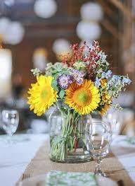 sunflower wedding flower ideas in season now brides